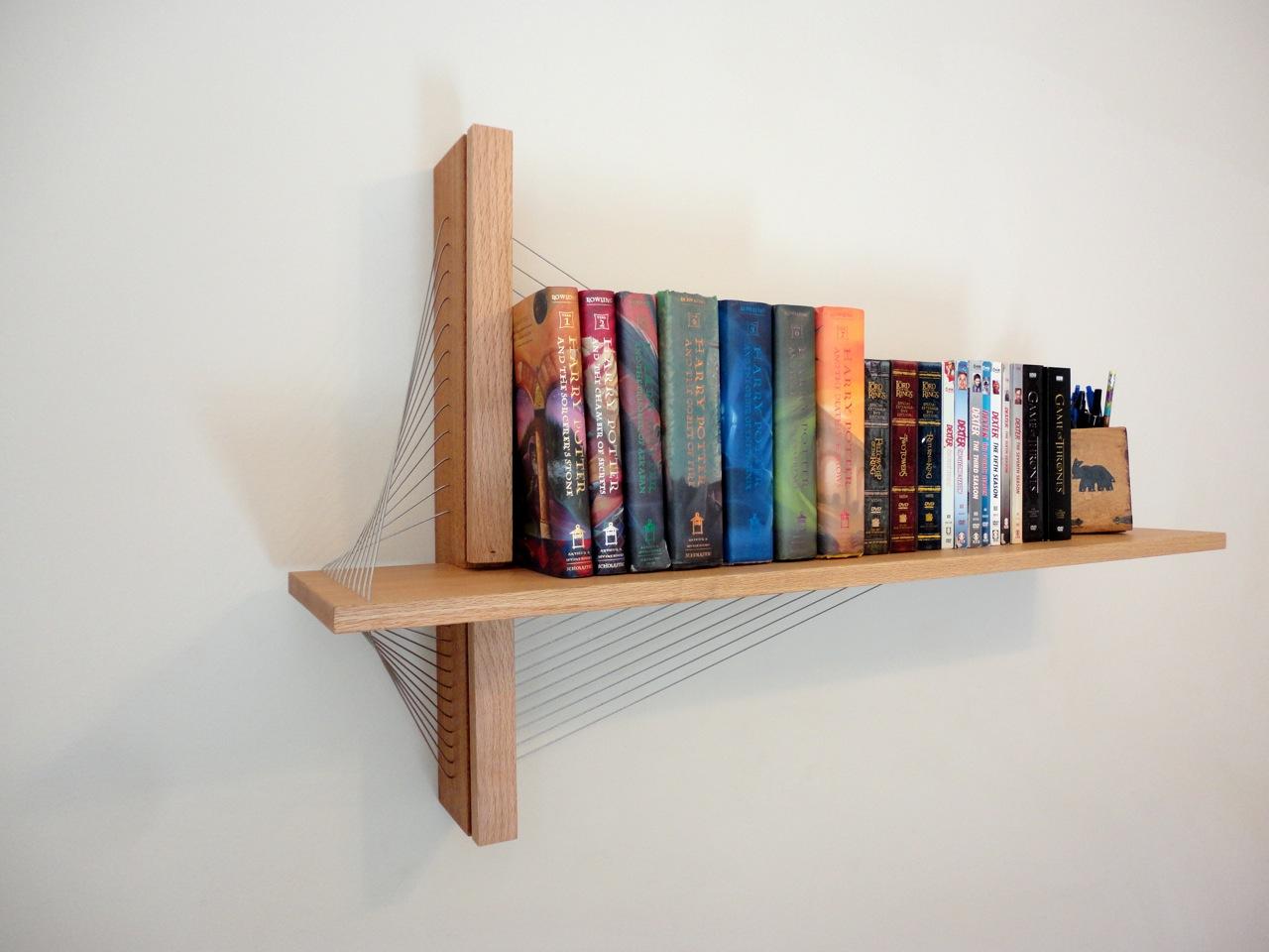 Bilderesultat for suspension bookshelves